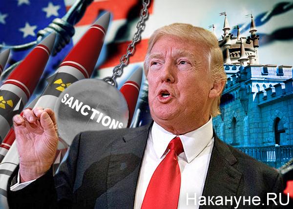 коллаж, Трамп, США, санкции, ядерное оружие, Крым, Россия|Фото: Накануне.RU