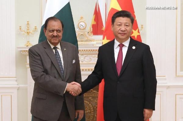 Председатель КНР Си Цзиньпин и президент Пакистана Мамнун Хуссейн|Фото: russian.news.cn