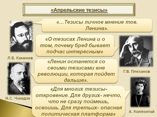 1917, Октябрьская Социалистическая революция, Ленин, апрельские тезисы, Владимир Ильич|Фото: 900igr.net