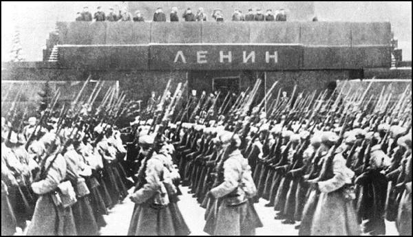 Парад, мавзолей, Ленин, 1941|Фото: