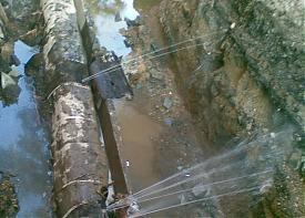 труба трубы опрессовка опрессовки жкх коммунальная авария свищ фонтан|Фото: Накануне.RU