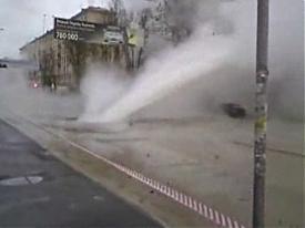 санкт-петербург питер фонтан горячая вода кипяток авария прорыв трубы|Фото: Мобильный Репортер