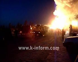 сургут газовый фонтан огонь Фото:k-inform