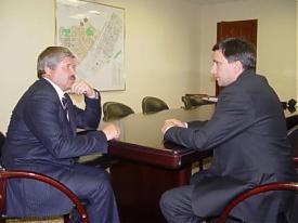 Экс-губернатор ЯНАО Юрий Неелов и губернатор ЯНАО Дмитрий Кобылкин|Фото:puradm.info
