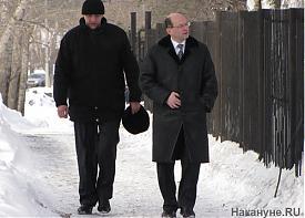губернатор Свердловской области Александр Мишарин охранник|Фото: Накануне.RU