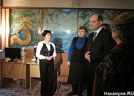 губернатор Свердловской области Александр Мишарин школа музей визит|Фото: Накануне.RU