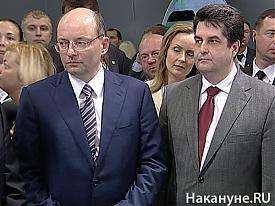 "Александр Мишарин, Николай Винниченко на выставке ""Иннопром""|Фото: Накануне.RU"