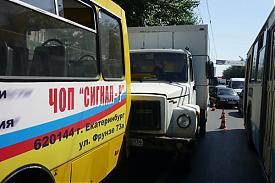 газ автобус автомобиль дтп столкновение|Фото:ГИБДД Екатеринбурга
