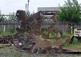 скульптуры из металлолома|Фото: