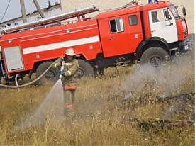 гуфсин пожар пожарная машина пожарный тушение|Фото:ГУФСИН Свердловской области