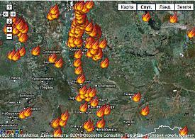свердловская область пожар карта Фото: maps.google.ru