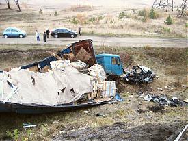 дтп грузовик легковой автомобиль мост|Фото: УГИБДД Свердловской области