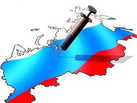 карта Россия шприц США|