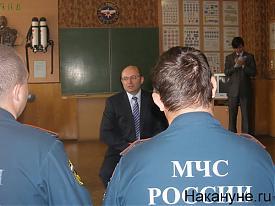 губернатор Мишарин знакомится со спецназом МЧС|Фото:губернатор Мишарин знакомится со спецназом МЧС