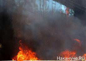 Офис Партии Регионов, киев, пожар|Фото:твиттер