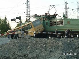 дтп переезд железнодорожный автобус поезд|Фото:ugibddso.ru