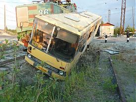 дтп переезд железнодорожный автобус поезд|Фото:УГИБДД Свердловской обл