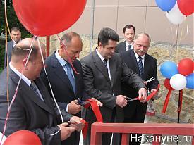 Пумпянский, Винниченко ,Гредин, открытие детской поликлиники в Полевском|Фото:Накануне.RU