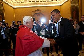 папа Бенедикт XVI и Барак Обама Фото:ipr.cua.edu