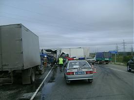 дтп трасса екатеринбург - пермь грузовик|Фото:ГУ МЧС Свердловской области