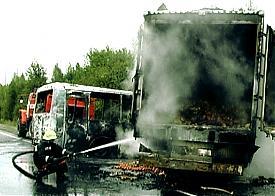 дтп камаз автобус первоуральск 28.8.11 Фото: pervo.ru