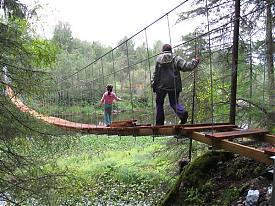 парк Оленьи ручьи мост Карстовый Фото:Юрий Федоров