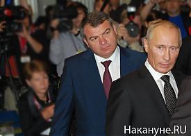 выставка вооружений нижний тагил 2011 путин сердюков|Фото: Накануне.RU