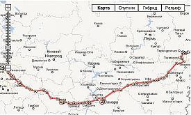 автопробег в поддержку Хабарова карта|Фото:leonid-habarov.com