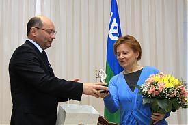 Мишарин и Комарова|Фото:пресс-служба губернатора Свердловской области