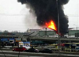 пожар, рынок таганский ряд|Фото: twitter.com/Tinka_ICE