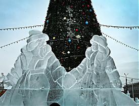 ледовый городок в Челябинске|Фото:gubernator74.ru