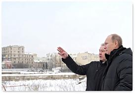"путин, собянин, на месте гостиница ""Россия""|Фото: premier.gov.ru"