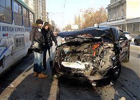 дтп, инфинити, трамвай|Фото: гибдд екатеринбурга
