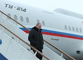 путин самолет трап ту-214|Фото: пресс-служба губернатора челябинской области