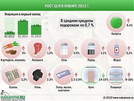 инфографика повышение цен инфляция Фото: Накануне.RU