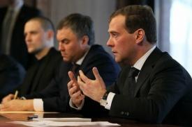 Медведев, Володин, Удальцов встреча с внесистемной оппозицией 20.02.2012|Фото:пресс-службы Президента России