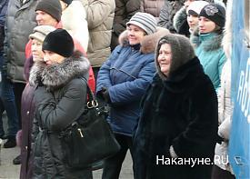митинг курган 5.03.2012 пенсионер старушка за Путина  Фото: Накануне.RU