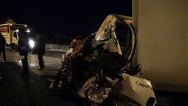 поврежденная кабина фуры|Фото: пресс-служба УГИБДД Свердловской области