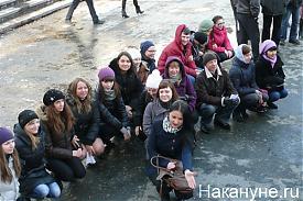 студенты митинг за честные выборы ректора КГУ Курган|Фото: Накануне.RU
