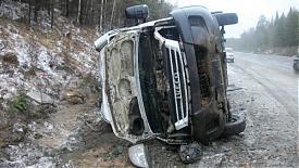 микроавтобус ДТП обочина|Фото: пресс-служба УГИБДД Свердловской области