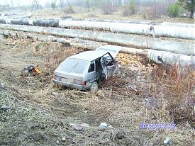 ВАЗ ДТП теплотрасса|Фото: пресс-служба УГИБДД Свердловской области