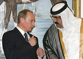 Премьер-министр Владимир Путин и эмир Катара Хамад бен Халиф Аль Тани|Фото: