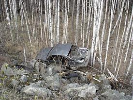 Ниссан ДТП лес|Фото: пресс-служба УГИБДД Свердловской области