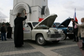 освещение автомобилей ханты-мансийск автопробег победа одна на всех|Фото: dumahmao.ru