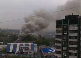 пожар авиаремонтный завод ботаника |Фото: Александр Ивачев