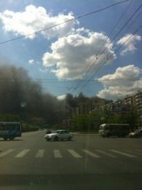 пожар в Челябинске 18.05.2012|Фото:p.twimg.com