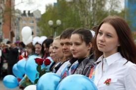 выпускники школьники воздушные шары|Фото: admhmansy.ru