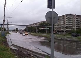 Октябрьский проспект Нижний Тагил ливень дорога ремонт потоп|Фото: