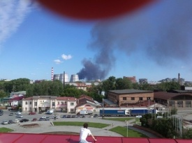 пожар, склад, дым|Фото: anime.66.ru