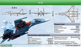 Самолет Су-30 технические характеристики Фото: Накануне.RU